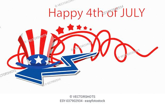 happy 4th of july design Vector Illustration