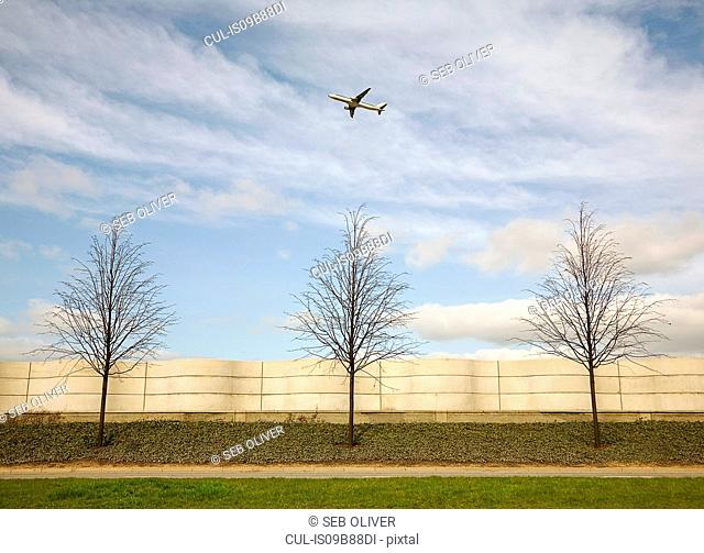 Aeroplane flying upwards after airport take off