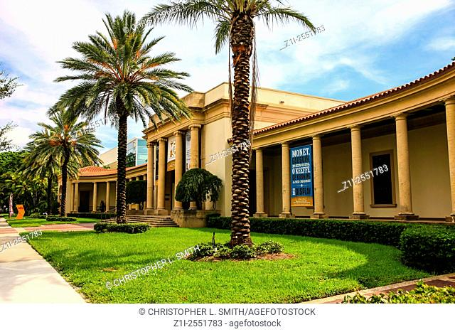 The Museum of Fine Arts building in St. Petersburg, Florida