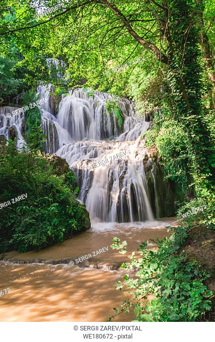 Krushuna waterfalls in northern Bulgaria near a village of Krushuna, Letnitsa
