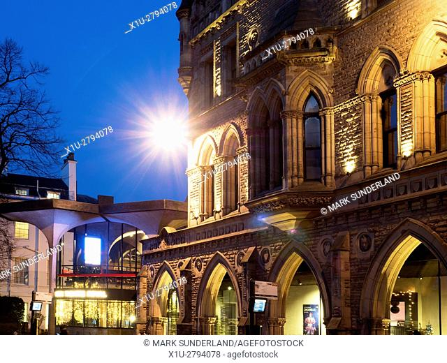 Theatre Royal at Dusk City of York Yorkshire England