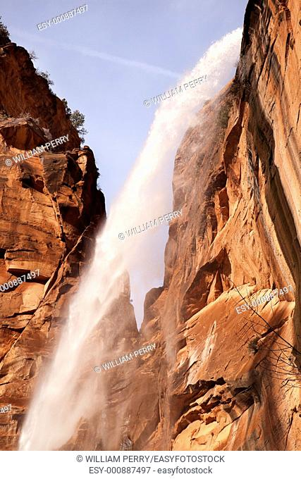 Weeping Rock Waterfall Red Rock Wall Zion Canyon National Park Utah Southwest