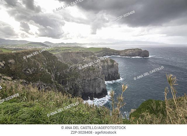 Ponta do Cintrao viewpoint Ribeira Grande Sao Miguel island. Azores, Portugal