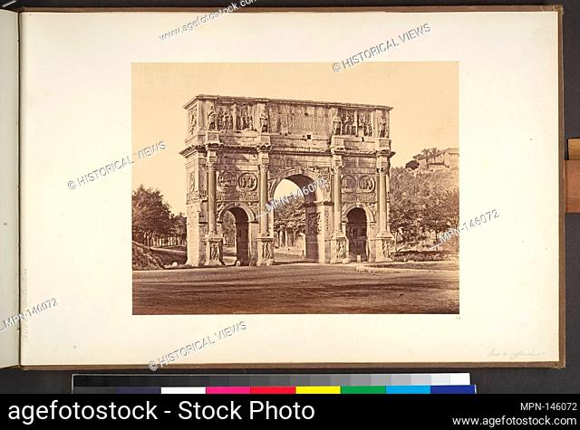 Arco di Constantino. Artist: Eugène Constant (French, active Italy, 1848-55); Date: 1848-52; Medium: Albumen print from glass negative; Dimensions: Image: 8...