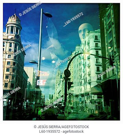 Plaza del Callao, Gran Via, Madrid, Spain