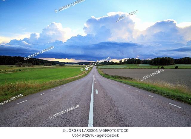 Road at Jonaker Sodermanland Sweden