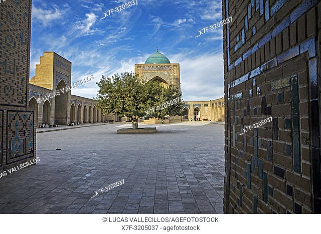 Courtyard of Kalon mosque, Bukhara, Uzbekistan