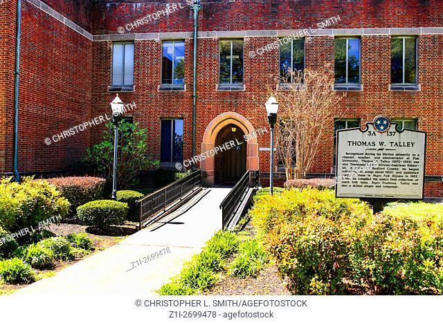 The Thomas W. Talley Hall building on Fisk University campus in Nashville TN