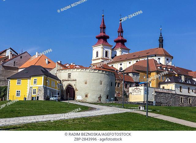 Decanal Church of the Exaltation of the Holy Cross, Kadan, Northern Bohemia, Czech Republic, Europe