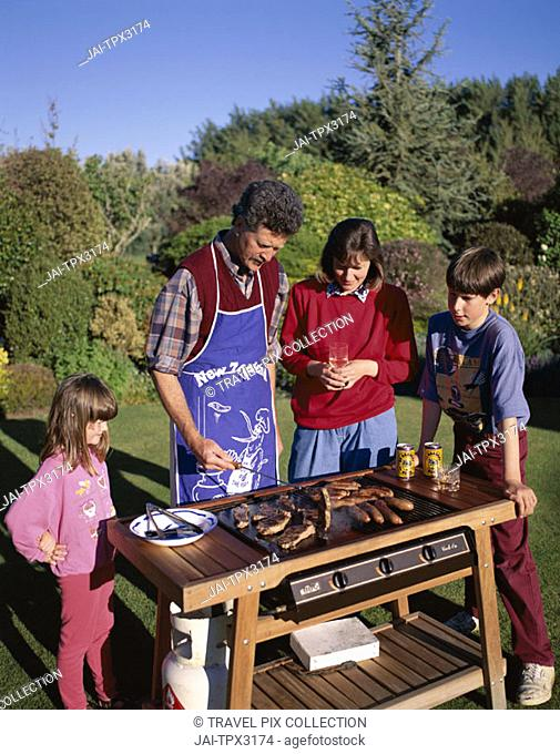Family Barbecue (BBQ), North Island, New Zealand