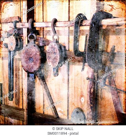 Tools used for building boats