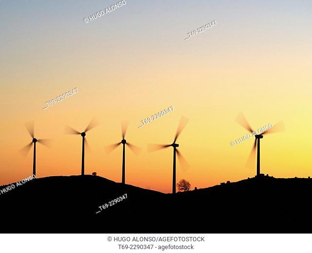 wind power plant in Navarra Spain