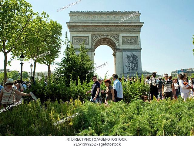 Paris, France, Champs-Elysees Garden Event