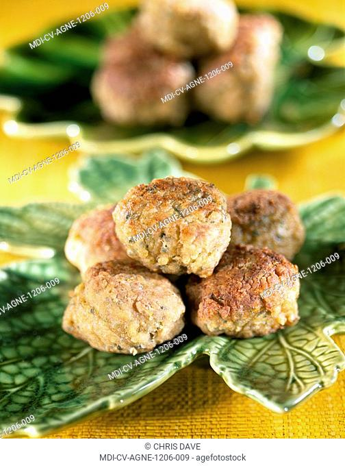 Meatballs of lamb with zucchinis