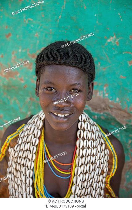 Black woman wearing traditional jewelry