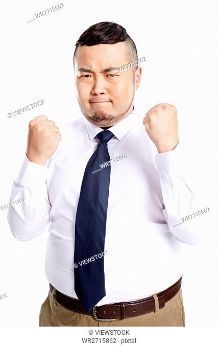 Business fat man