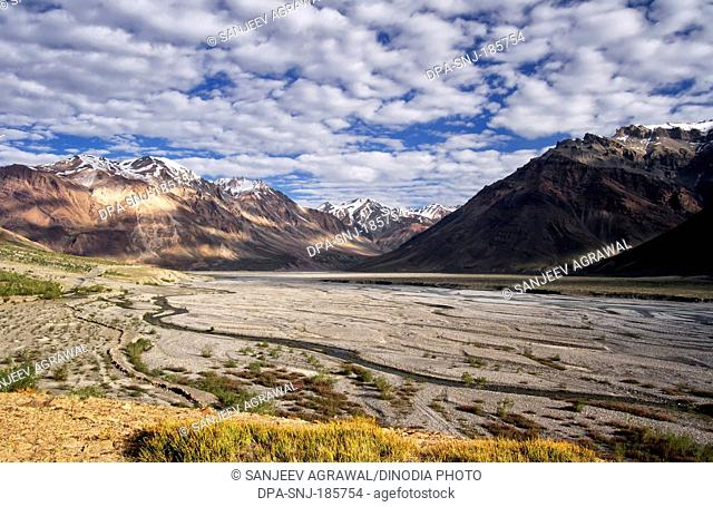 Spiti Valley at Himachal Pradesh India