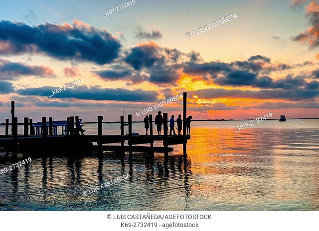 Sunset. Islamorada. Florida. USA