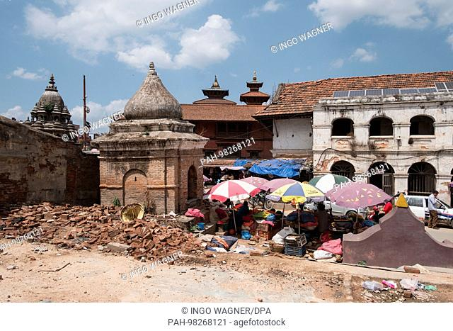 Patan Durbar Square in Kathmandu/Nepal. The square is full of ancient monuments, temples and shrines.   usage worldwide. - Kathmandu/Nepal