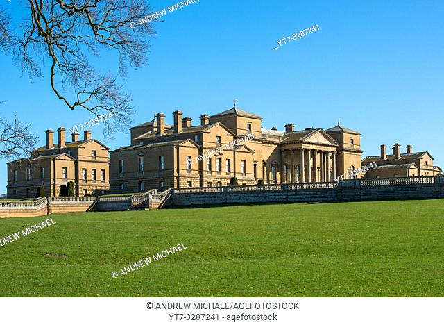 Holkham hall Stately home in North Norfolk, East Anglia, England, UK