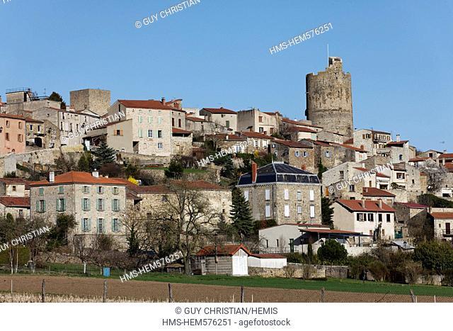 France, Puy de Dome, Montpeyroux, labelled Les Plus Beaux Villages de France The Most Beautiful Villages of France