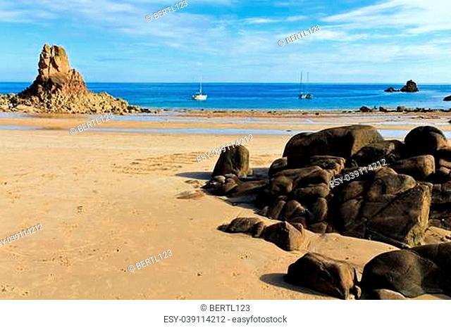 Beautiful Beauport Beach, Jersey, Channel Islands, UK