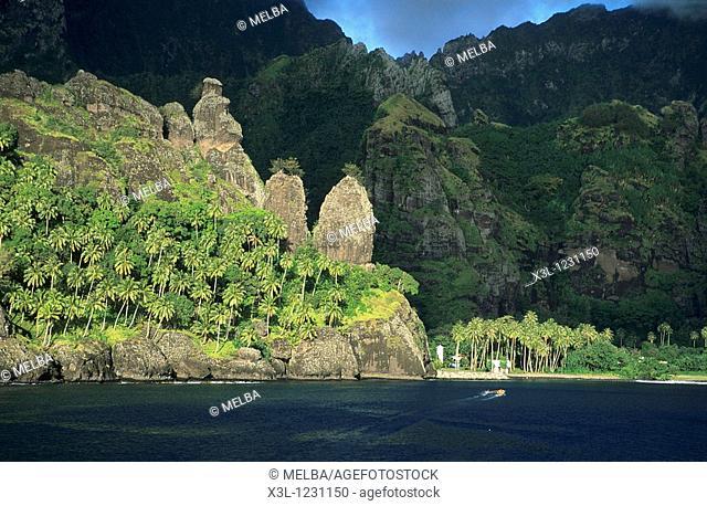 Virgenes Bay Hanavave Fatu Hiva Marquesas Islands French Polynesia