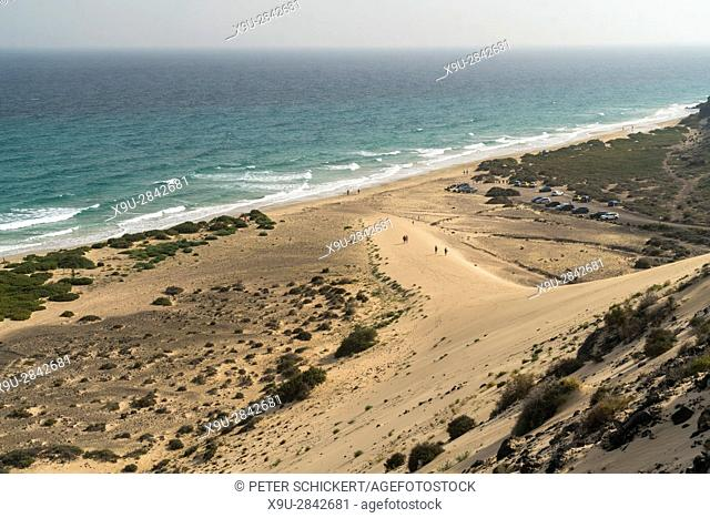 beach dunes of Playa de Sotavento, Jandía Natural Park, Fuerteventura, Canary Islands, Spain