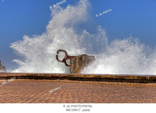 Peine del viento (The Comb of the Winds ) Eduardo chillida sculpture. Donostia. san Sebastian. Basque Country. Spain