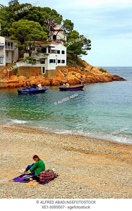 beach, Sa Tuna, Begur, Girona, Catalonia, Spain