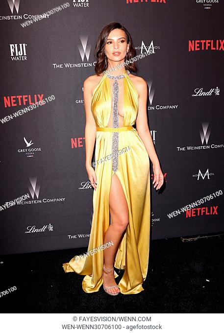 The Weinstein Company And Netflix Golden Globes Party Featuring: Emily Ratajkowski Where: Beverly Hills, California, United States When: 08 Jan 2017 Credit:...