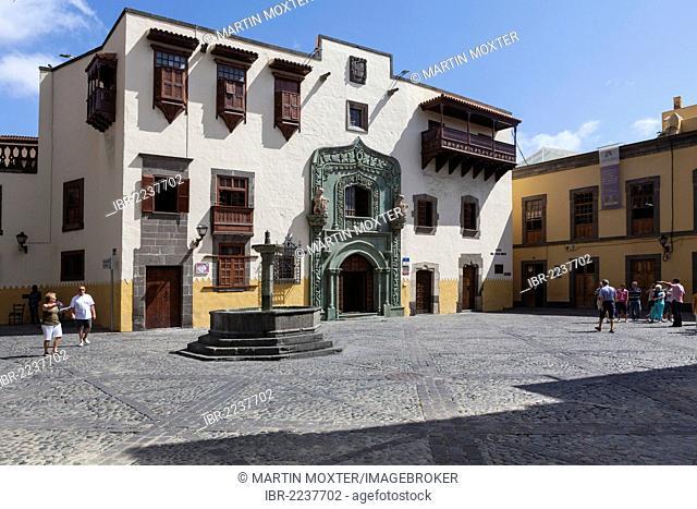 The late Gothic Casa Colon, las Palmas de Gran Canaria, Gran Canaria, Canary Islands, Spain, Europe, PublicGround