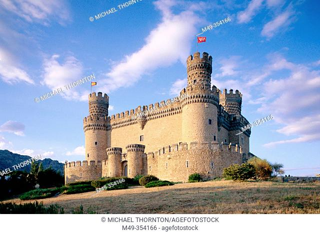 Manzanares el Real castle. Madrid province, Spain
