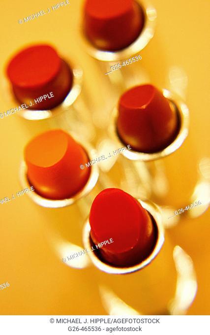 Tubes of lipstick