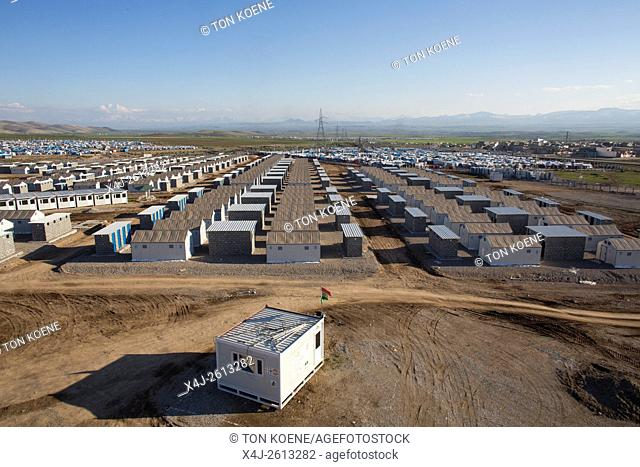 lavatory in refugee camp in Northern Iraq