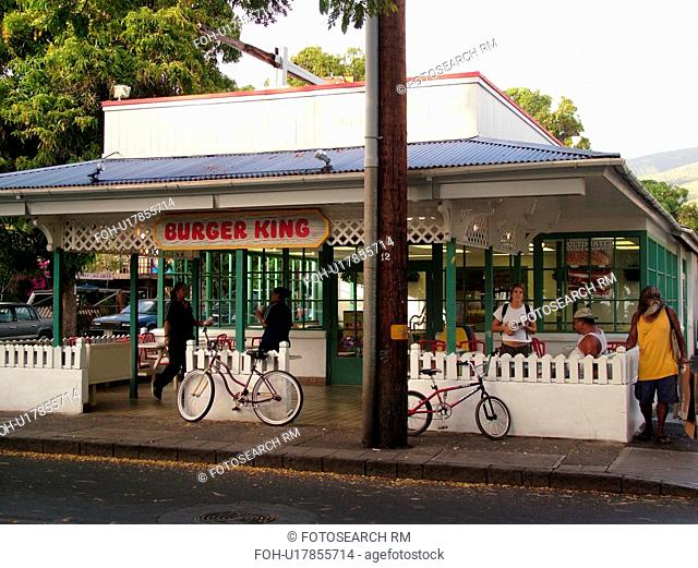 Lahaina, Maui, HI, Hawaii, West Maui, Historic Downtown, Burger King