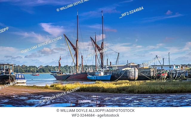 Boats of all kinds can be seen at Pin Mill