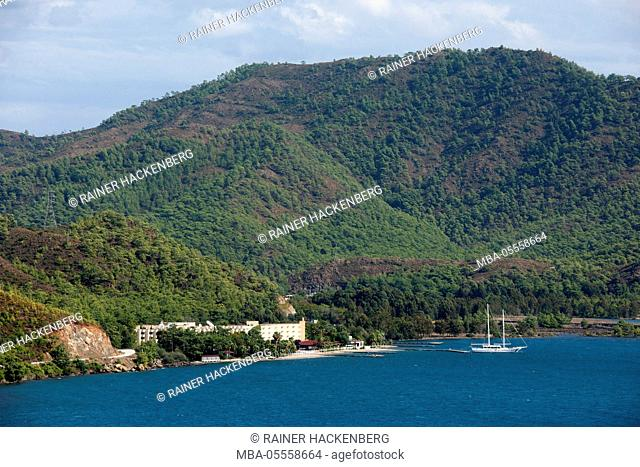 Turkey, province of Mugla, Bozburun peninsula, Marmaris Resort hotel at the golf of Hisarönü