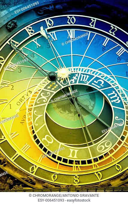 Orloj astronomical clock in Prague in Czech Republic