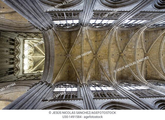 Inside of Notre-Dame Cathedral of Rouen, in Seine-Maritime department  Upper Normandy region  France
