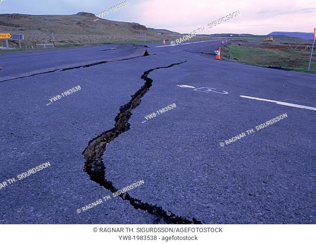 Earthquake cracks, Iceland