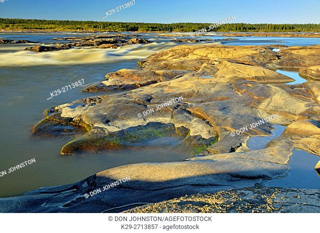 Rapids of the Drowned on the Slave River, Fort Smith, Northwest Territories, Canada
