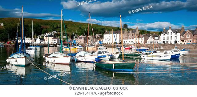Stonehaven Harbour in Summer, Aberdeenshire, Scotland