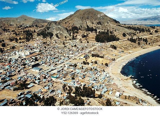 The town of Copacabana on the shore of Lake Titicaca, Bolivia