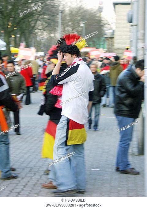 football fans waiting for game Germany against USA, Germany