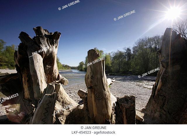 Flaucher, river Isar, Munich, Bavaria, Germany