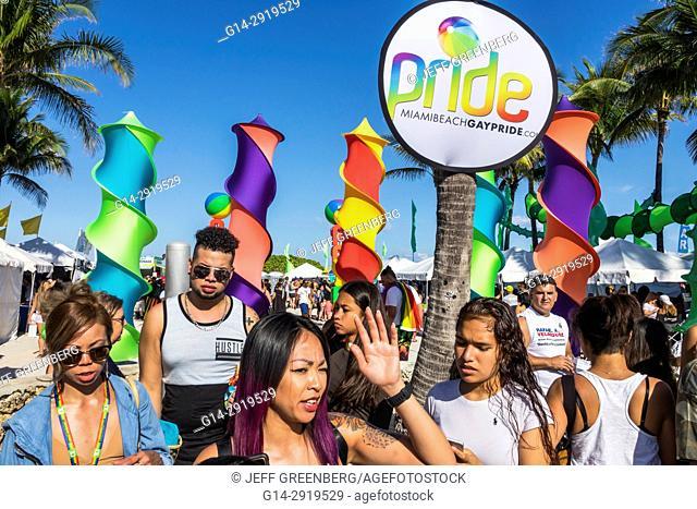 Florida, Miami Beach, Lummus Park, Gay Pride Week, LGBTQ, LGBT, Miami Beach Pride Festival