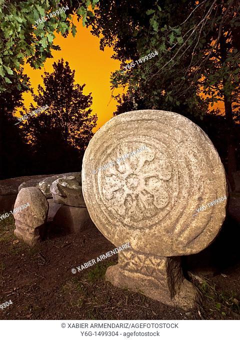 Necropolis of Argineta  VII-IX A D  Elorrio  Bizkaia  Basque Country, Spain