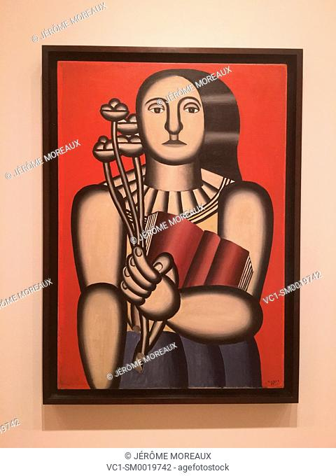 Woman with a book, Fernand Léger, 1923, Oil on canvas, Museum of Modern Art, New York city