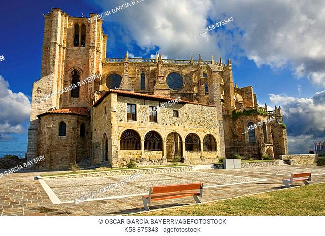 Church of St. Mary of the Assumption in Catro Urdiales, Cantabria, Spain